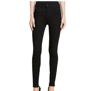 J Brand Maria High-Rise Skinny Jeans BlacK